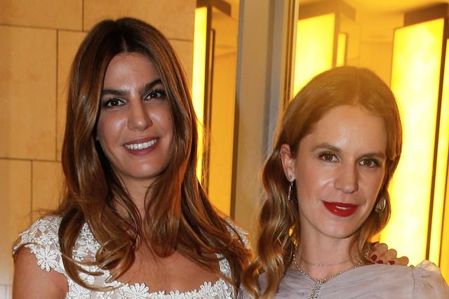 Bianca Brandolini d'Adda et Eugenie Niarchos