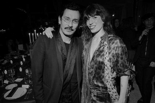 Haider Ackermann et Lou Doillon