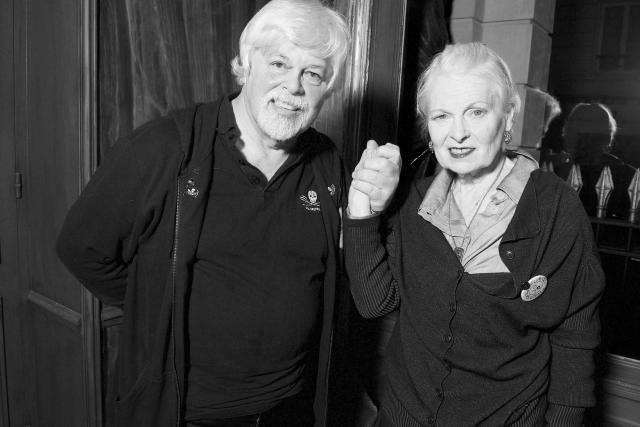 Paul Watson et Vivienne Westwood