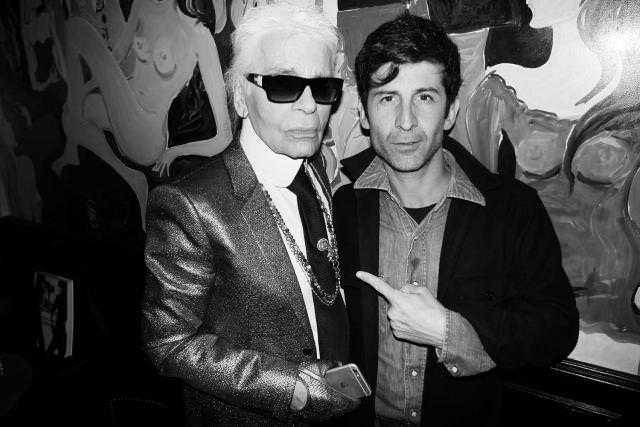 Karl Lagerfeld and André
