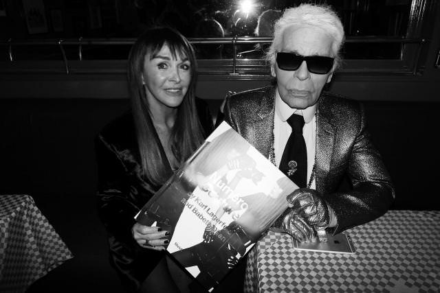 Babeth Djian and Karl Lagerfeld