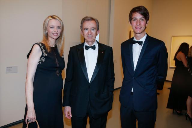Delphine, Bernard et Alexandre Arnault